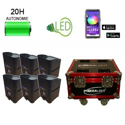 Kit 06 box Led's sur batterie 6x15W HF + Wifi - Location