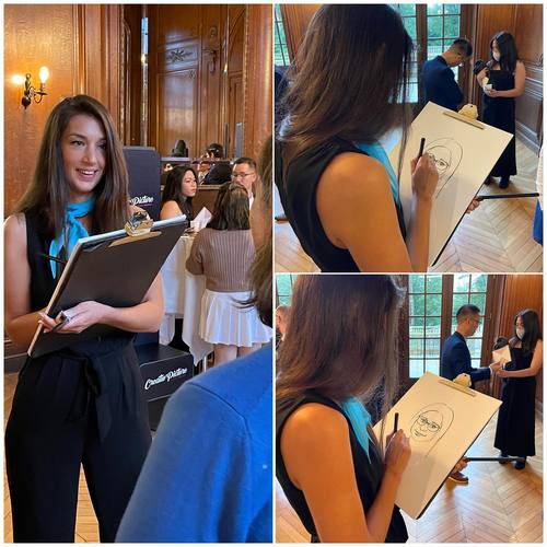 🇫🇷Caricatures en déambulation lors d'un mariage avec Soraya by Creativevent !  www.creativevent.fr  🇬🇧 Caricatures strolling during a wedding with Soraya by Creativevent!  #caricature #draw #drawing #caricaturist #dessin #performance #mariage #wedding #animation #event